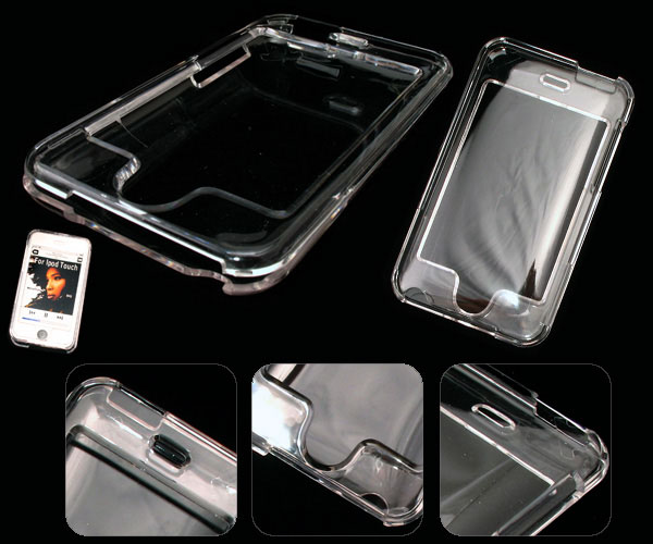 Clear crystal case for ipod touch 2nd and 3rd generation players.